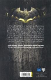 Batman : nightwalker - 4ème de couverture - Format classique