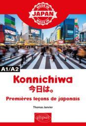Made in ; konnichiwa ; ???? ; premières leçons de japonais - Couverture - Format classique