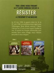 Les enfants de la Résistance t.1 ; premières actions - 4ème de couverture - Format classique