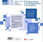 DEC 2 ; révision légale et contractuelle des comptes (édition 2020) - 4ème de couverture - Format classique