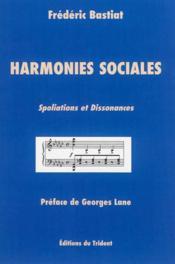 Harmonies sociales ; spoliations et dissonances - Couverture - Format classique