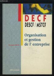 Organisation Et Gestion De L'Entreprise - Couverture - Format classique
