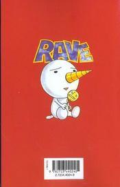 Rave t.1 - 4ème de couverture - Format classique
