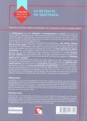 Retraite Au Quotidien (La) - 4ème de couverture - Format classique