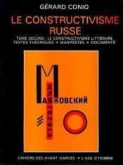 Constructivisme russe t2 (le) - Couverture - Format classique