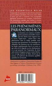 Phenomenes Paranormaux (Les) - 4ème de couverture - Format classique