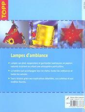Lampes d'ambiance - 4ème de couverture - Format classique