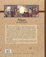 Memoire De Provence - 4ème de couverture - Format classique