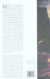 Frontieres Barbares - L Espace Imaginaire Americain De C.B. Brown A Jim Morrison - 4ème de couverture - Format classique