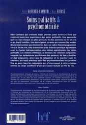 Soins palliatifs et psychomotricité - 4ème de couverture - Format classique