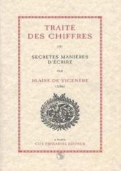 Traite Des Chiffres Ou Secretes Manieres D' - Couverture - Format classique