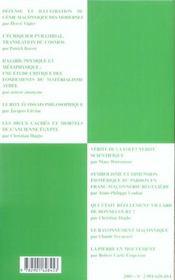 Travaux de la loge nationale de recherche villard de honnecourt ; le rayonnement maconnique entre foi et raison - 4ème de couverture - Format classique