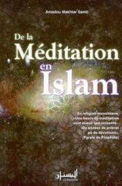 De la méditation en Islam - Couverture - Format classique