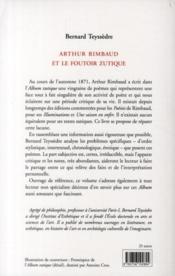Arthur Rimbaud Et Le Foutoir Zutique - 4ème de couverture - Format classique