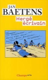Hergé écrivain - Couverture - Format classique