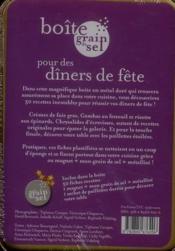Boîte pour des dîners de fête - 4ème de couverture - Format classique