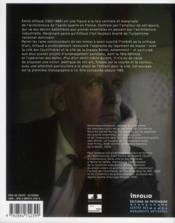 Emile Aillaud - 4ème de couverture - Format classique