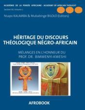 Heritage du discours theologique negro-africain - Couverture - Format classique