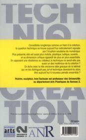 Technique et création - 4ème de couverture - Format classique