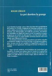 Pre Derriere La Grange - 4ème de couverture - Format classique