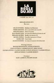 Revue La Regle Du Jeu N.9 - Intérieur - Format classique