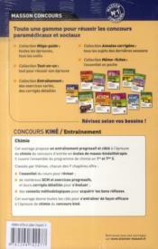 Entrainement ; Concours Kiné ; Physique, Chimie, Biologie - 4ème de couverture - Format classique
