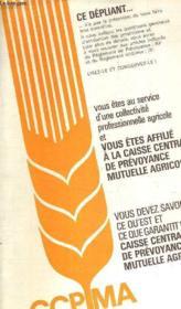 Fasicule Depliant De La Caisse Centrale De Pevoyance Mutuelle Agricole. - Couverture - Format classique