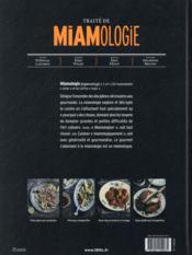 Traité de miamologie ; les fondamentaux de la cuisine décryptés par le pourquoi - 4ème de couverture - Format classique