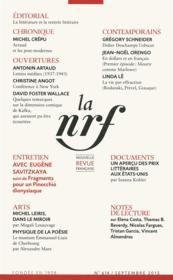 La Nouvelle Revue Francaise N.614 - Couverture - Format classique