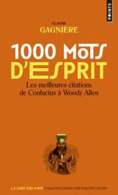 1000 mots d'esprit - Couverture - Format classique