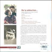 De la séduction... cartes postales de la Belle Epoque et des Années folles - 4ème de couverture - Format classique