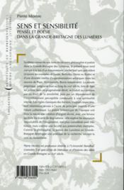 Sens et sensibilite - 4ème de couverture - Format classique