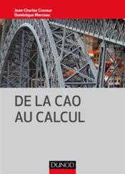 De la CAO au calcul - Couverture - Format classique