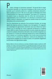 Sociologie des systèmes alimentaires alternatifs ; une promesse de différence - 4ème de couverture - Format classique