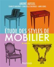 Étude des styles de mobilier (3e édition) - Couverture - Format classique