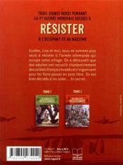 Les enfants de la Résistance t.2 ; premières répressions - 4ème de couverture - Format classique