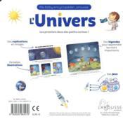 L'univers - 4ème de couverture - Format classique