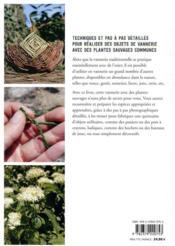 La vannerie avec des plantes sauvages - 4ème de couverture - Format classique
