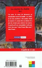 La Course Du Diable - 4ème de couverture - Format classique
