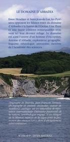 Le domaine d'Abbadia - 4ème de couverture - Format classique