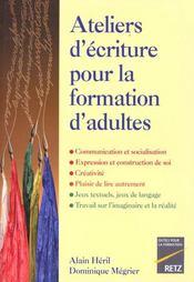 Ateliers ecrit.format.adultes - Intérieur - Format classique