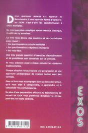 Qcm De Mathematiques Sujets Et Corriges Terminale S - 4ème de couverture - Format classique