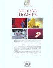Des Volcans Et Des Hommes - 4ème de couverture - Format classique