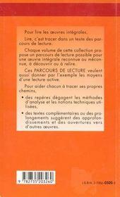 L'Or - Parcours De Lecture - 4ème de couverture - Format classique