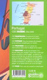Geoguide ; Portugal (Edition 2004) - 4ème de couverture - Format classique