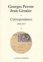 Correspondance (1950-1971) - Couverture - Format classique