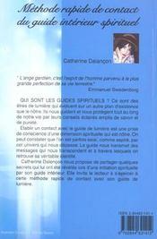 Methode Rapide De Contact Du Guide Interieur Spirituel - 4ème de couverture - Format classique