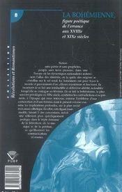 La bohémienne, figure poétique de l'errance aux xviii et xix siècles - 4ème de couverture - Format classique