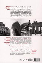 REVUE ALLEMAGNE D'AUJOURD'HUI T.181 ; usages du passé dans les nouveaux Bundesländer - 4ème de couverture - Format classique