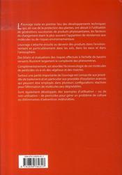 Pesticides : impacts environnementaux, gestion et traitements - 4ème de couverture - Format classique